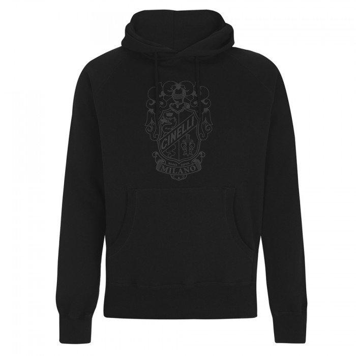 Crest Black Hoodie Sweatshirt